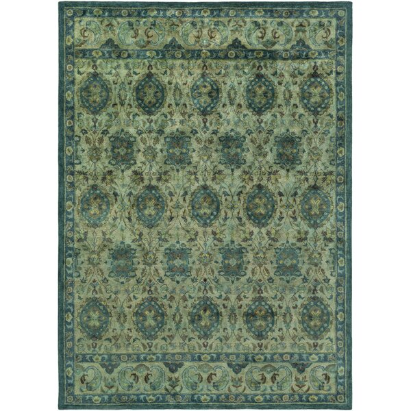 Arensburg Teal Area Rug by Bungalow Rose