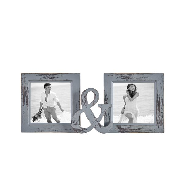 Bhatade Distressed Reclaimed Wood Dual Picture Frame by Gracie Oaks