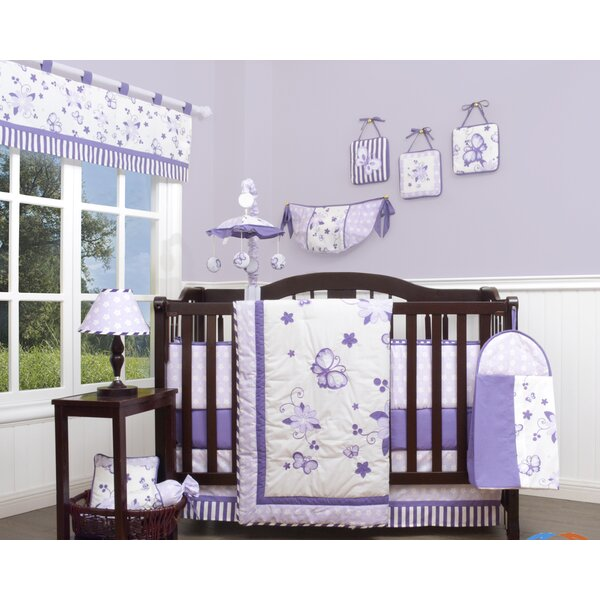 New Butterfly 13 Piece Crib Bedding Set by Geenny