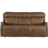 Mujdat Genuine Leather Reclining 79 Square Arm Sofa by Latitude Run