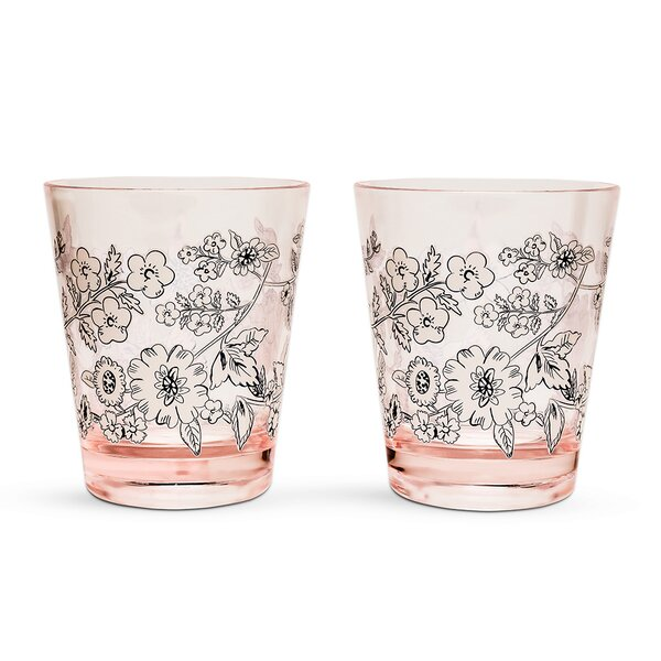 Coral Floral 14 oz. Every Day Glasses (Set of 4) by Vera Bradley