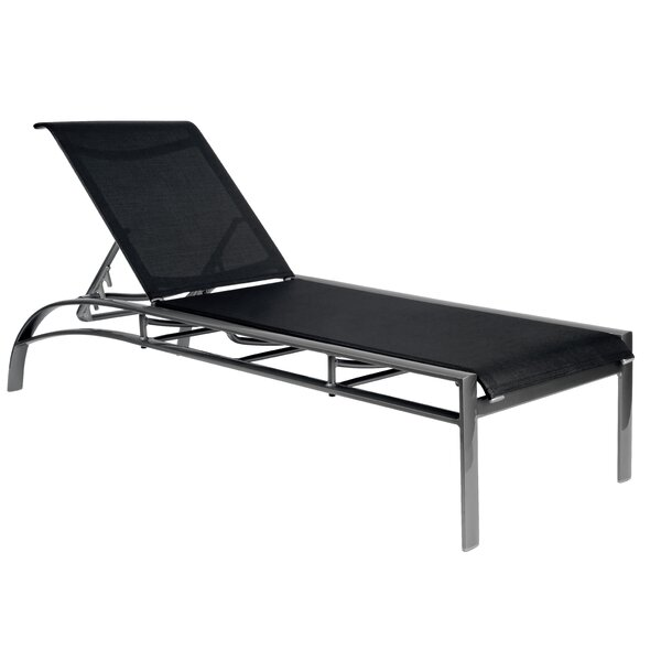 Metropolis Reclining Chaise Lounge by Woodard