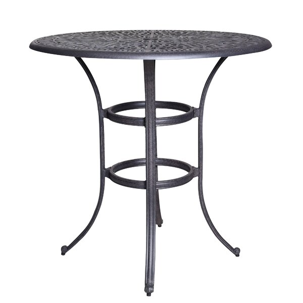 Thurston Aluminum Bar Table by Fleur De Lis Living