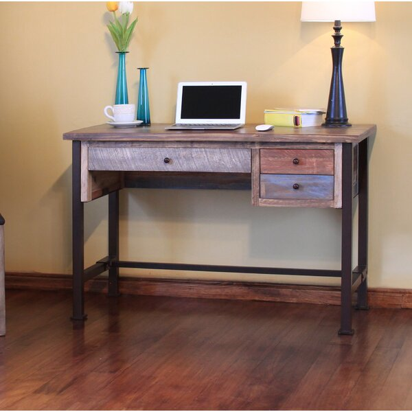Stimson Reclaim Wood Desk by Millwood Pines