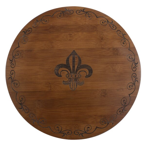 Fleur de Lis Bamboo Lazy Susan by Thirstystone
