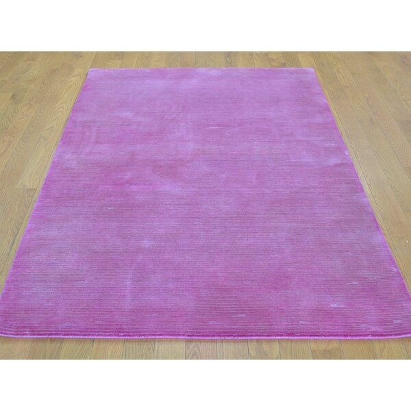 One-of-a-Kind Bobby Hand-Knotted Pink Wool/Silk Area Rug by Isabelline
