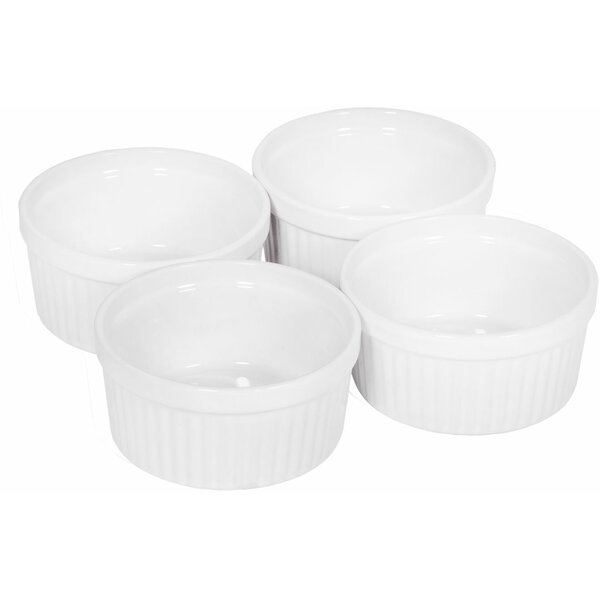 Round Fluted 4-Ounce Ramekin (Set of 4) by Home Essentials and Beyond