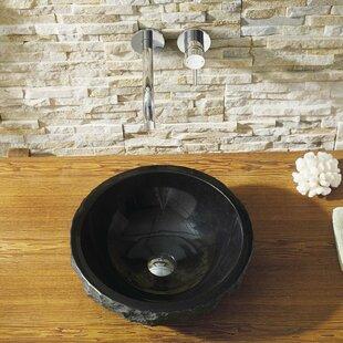 Affordable Melia Stone Circular Vessel Bathroom Sink ByVirtu USA