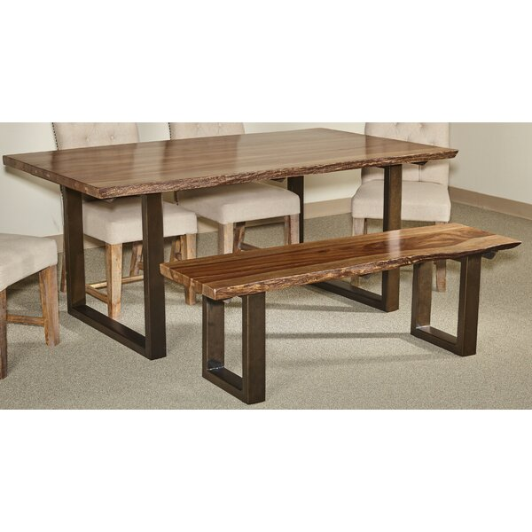 Waldon 2 Piece Solid Wood Dining Set by Millwood Pines