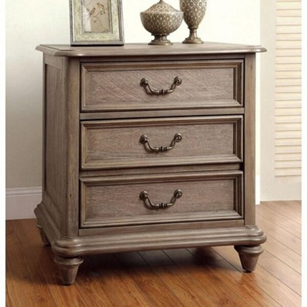 Rasco Belgrade I 3 Drawer Night Stand by Darby Home Co