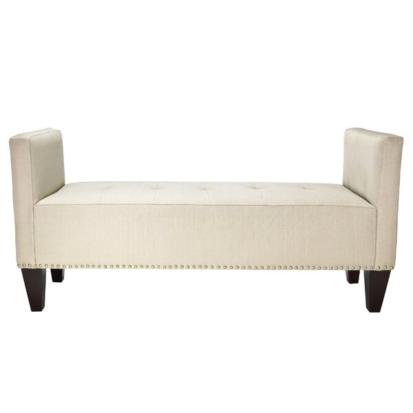 Hisle Upholstered Bench by Alcott Hill