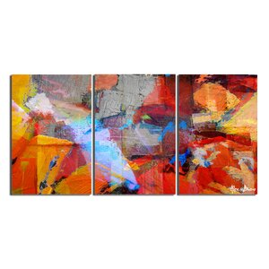 Abstract 3 Piece Painting Print on Canvas Set by Ready2hangart