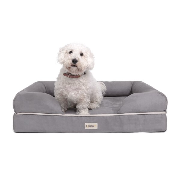 Inverness Pet Couch Bolster with Solid Memory Foam by Tucker Murphy Pet