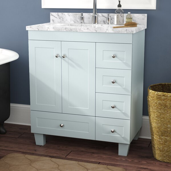 Kyndra Transitional 31 Single Bathroom Vanity Set