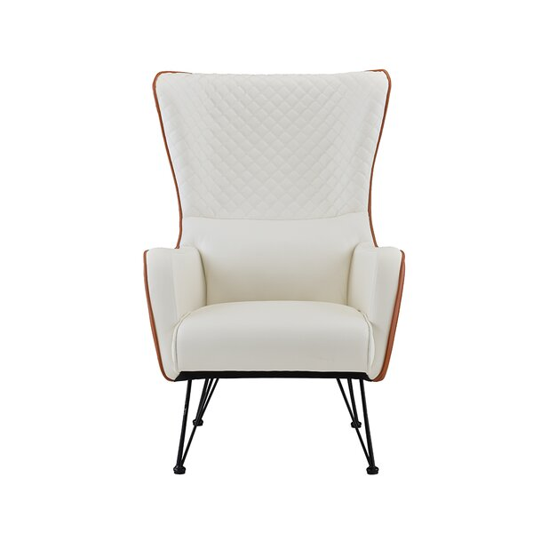 Bianco Wingback Chair by Wrought Studio