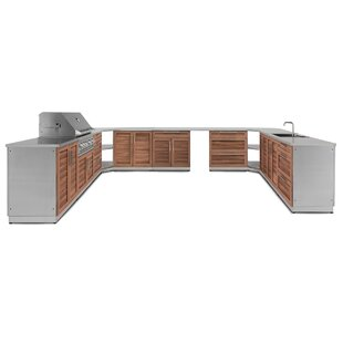Kitchen 18 Piece Outdoor Bar Center Set By NewAge Products