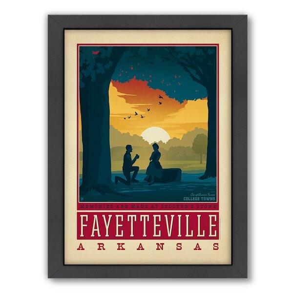 Fayetteville Arkansas Framed Vintage Advertisement by East Urban Home