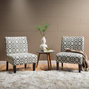 Veranda Slipper Accent Chair (Set of 2) by Highland Dunes