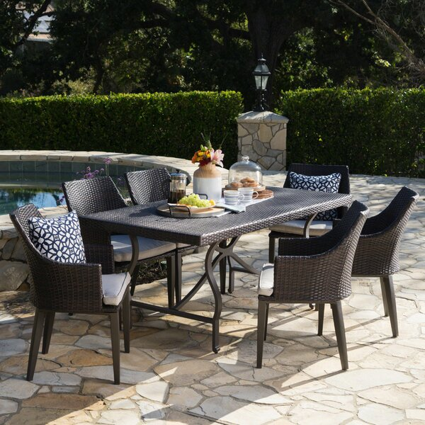 Dolph 7 Piece Dining Set with Cushions by Gracie Oaks Gracie Oaks
