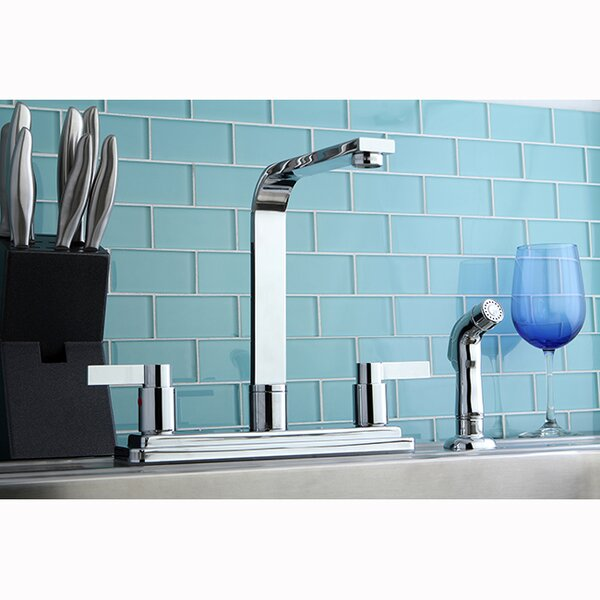 NuvoFusion Double Handle Kitchen Faucet by Kingston Brass