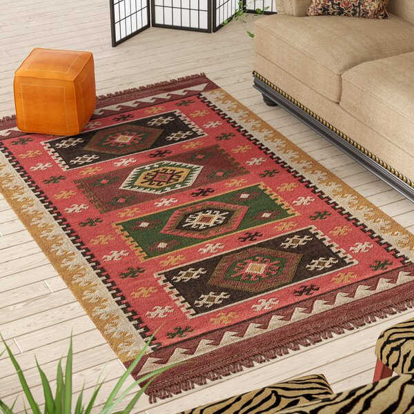 Addre Red/Yellow Area Rug by Bloomsbury Market