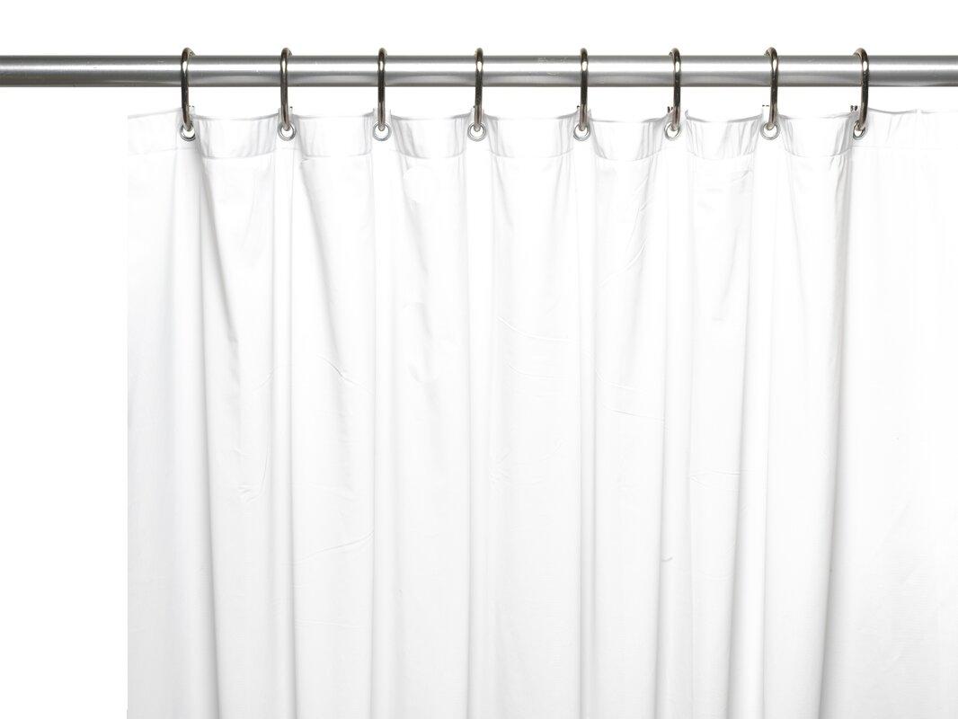 Wayfair Basics™ Wayfair Basics Vinyl Shower Curtain Liner ...