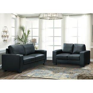 Emioluwa 2 Piece Faux Leather Configurable Living Room Set by Latitude Run®
