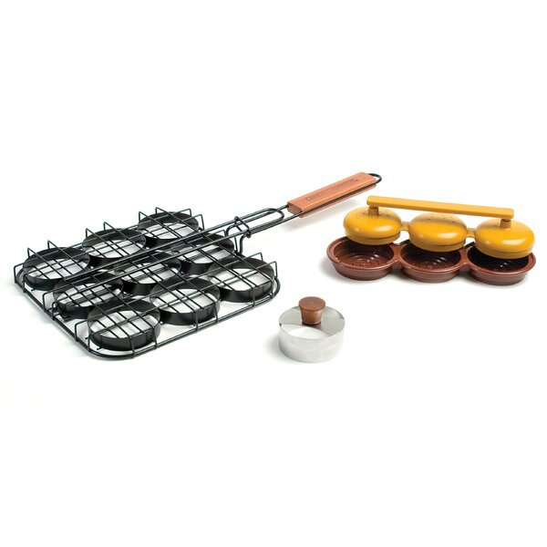 Deluxe 3 Piece BBQ Basket Set by Charcoal Companio