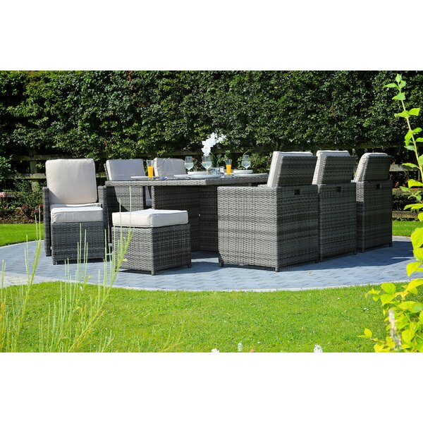 Direct Outdoor Patio 7 Piece Dining Set with Cushions by Latitude Run