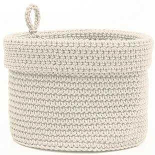 Chalmers Hand-crocheted Fabric Basket by August Grove