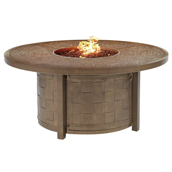 Classical Aluminum Propane Fire Pit Table by Leona