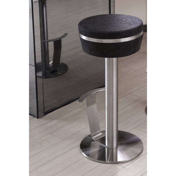 Havant Adjustable Height Swivel Bar Stool by Orren Ellis
