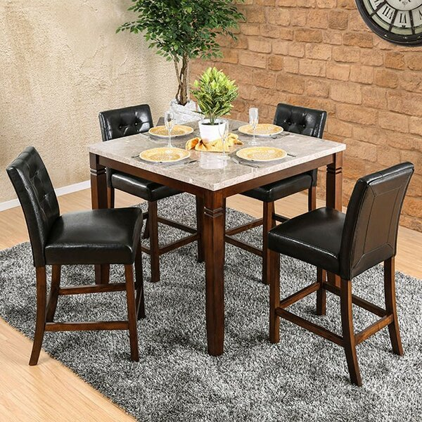 Mirfield 5 Piece Counter Height Dining Set by Fleur De Lis Living