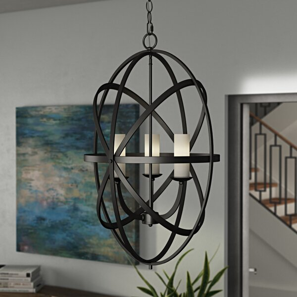 Fridley 3 - Light Unique / Statement Globe Chandelier by Ivy Bronx Ivy Bronx