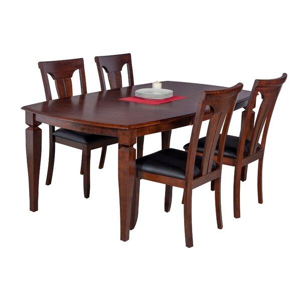 Besse 5 Piece Breakfast Nook Solid Wood Dining Set by Red Barrel Studio