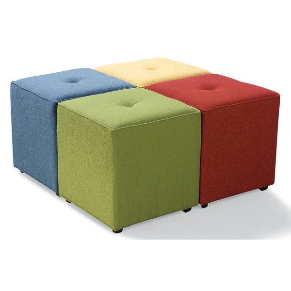 Irving Bunching Tufted Cube Ottoman By Fairfield Chair