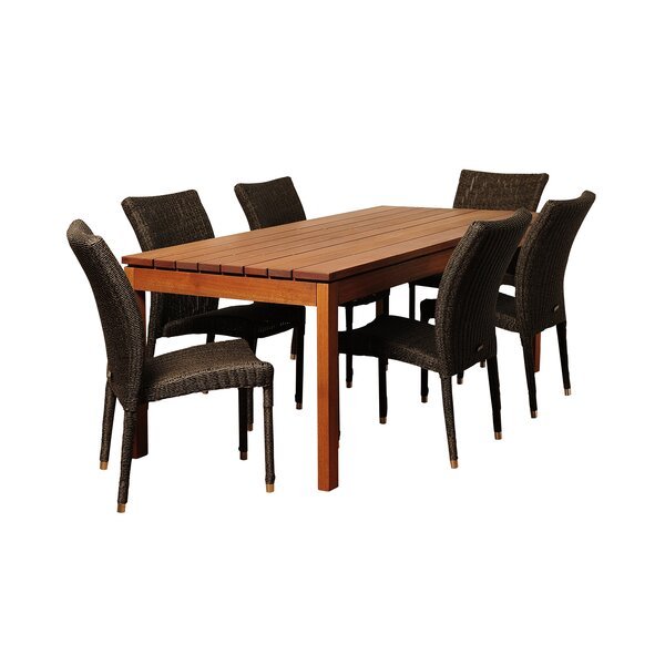 Farallones International Home Outdoor 7 Piece Dining Set Bayou Breeze W002482723