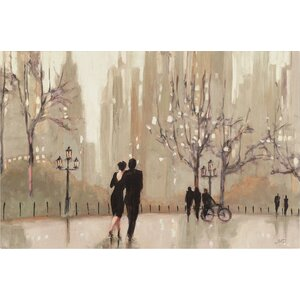 'An Evening Out Neutral' by Julia Purinton Framed on Canvas by Trademark Fine Art