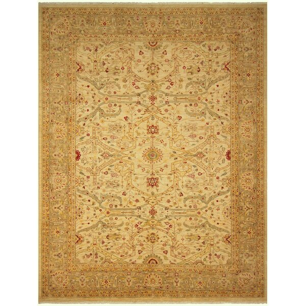 One-of-a-Kind Bodrum Hand-Knotted Wool Yellow Area Rug by Canora Grey