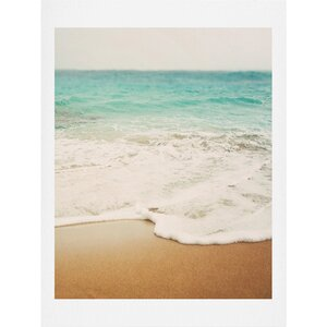 Ombre Beach Art Print by Deny Designs