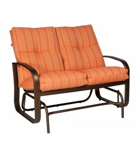 Cayman Isle Glider Bench with Cushions by Woodard