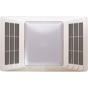 Inexpensive 50 CFM Bathroom Fan and Heater with Light ByBroan