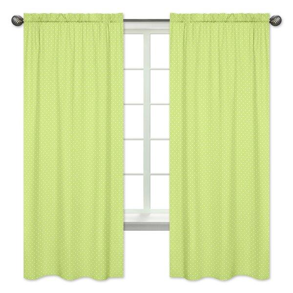 Hooty Owl Polka Dot Semi-Opaque Curtain Panels (Set of 2) by Sweet Jojo Designs