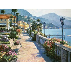 Bellagio Promenade by Howard Behrens Painting Print on Canvas by Fleur De Lis Living