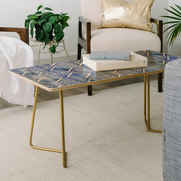Schatzi Kahala Flower Chambray Coffee Table by East Urban Home