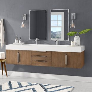 """Hukill 72"""" Wall-Mounted Double Bathroom Vanity Set"""