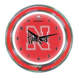 NCAA 14 Team Neon Wall Clock by Wave 7
