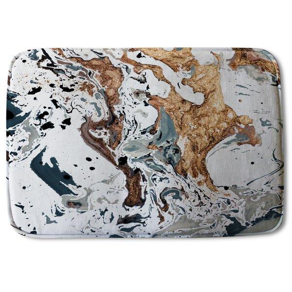 Andrijs Marble Designer Rectangle Non-Slip Bath Rug