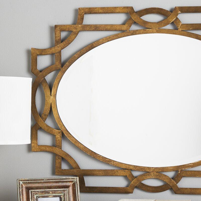 Willa Arlo Interiors Gold Oval Accent Mirror & Reviews | Wayfair
