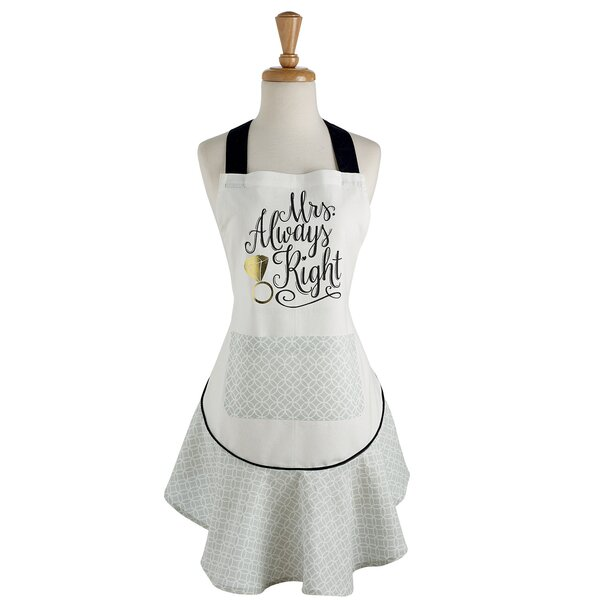 Mrs. Always Right Ruffle Apron by Brayden Studio